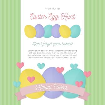 Carta di caccia alle uova di pasqua