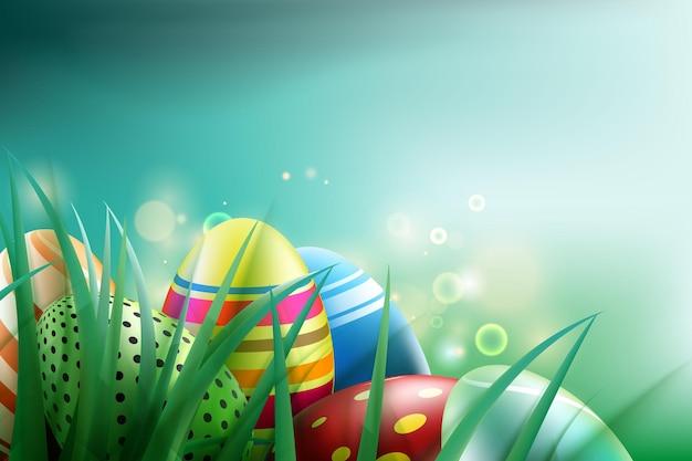 Sfondo di uova di pasqua