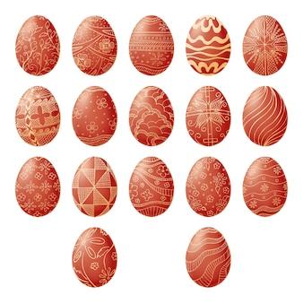 Uova di pasqua isolate su priorità bassa bianca. disegna a mano un simbolo di pasqua. illustrazione di uno stile di schizzo.