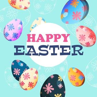 Illustrazione delle uova di pasqua decorate vacanza di pasqua