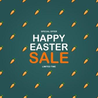 Modello di vendita di pasqua con 3d carino carota modello