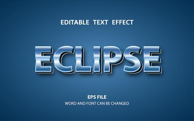 Effetto di testo modificabile eclipse