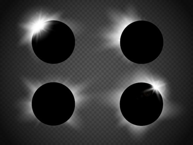 Illustrazione vettoriale di eclissi