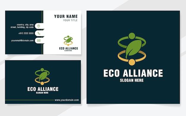Modello di logo dell'alleanza ecologica in stile moderno