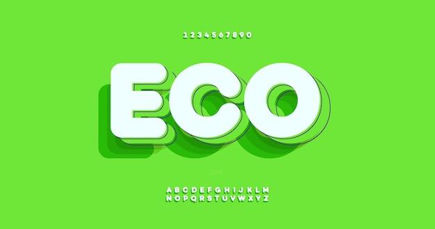 Carattere grassetto eco Vettore Premium