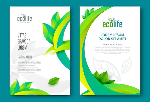 Modello di progettazione brochure eco.