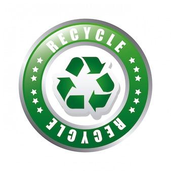 Eco design su sfondo bianco illustrazione vettoriale