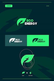 Modello di logo di eco energia / energia verde