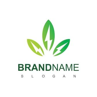 Modello di progettazione del logo di energia ecologica