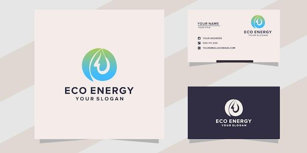 Modello di logo di energia ecologica
