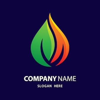 Logo di energia eco