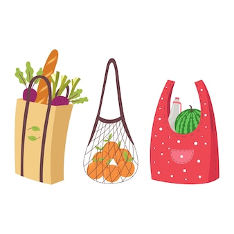 Set di borse ecologiche