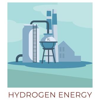 Modi e tecnologie eco-compatibili per generare e accumulare energia dalle risorse naturali. impianto di energia a idrogeno o tessuto che produce elettricità. generatori con tubi vettoriali in stile piatto