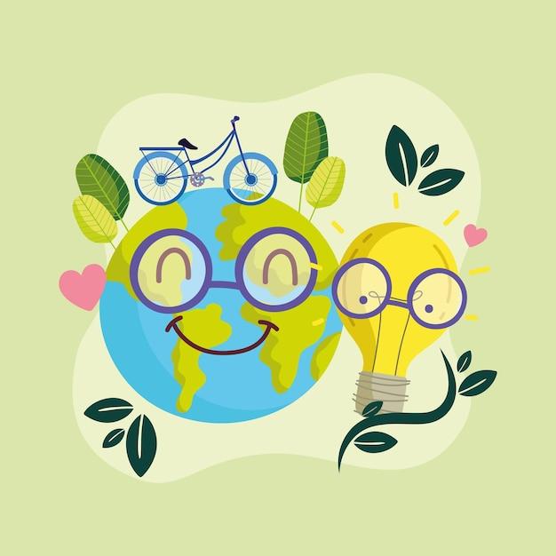 Bicicletta mondiale ecologica