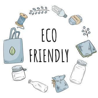 Corona ecologica di articoli in plastica