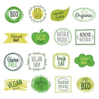 Set di etichette ecologiche