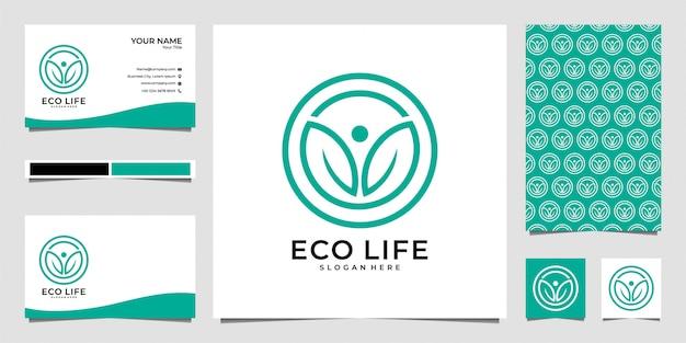 Design del logo eco life circle e biglietto da visita