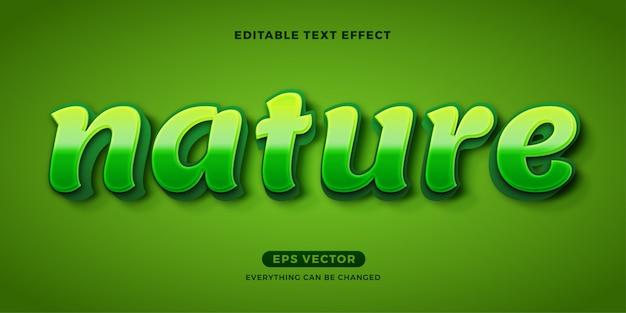 Eco nature effetto di testo modificabile verde