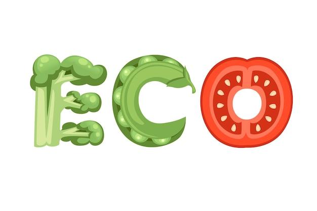 Eco stile cartone animato disegno vegetale piatto illustrazione vettoriale isolato su sfondo bianco.
