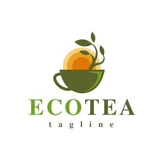 Design del logo del tè eco