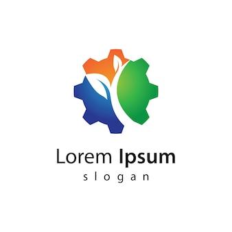 Illustrazione del design del logo eco-tech