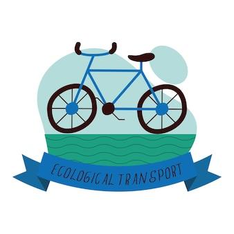 Cornice campagna scritta trasporto ecologico