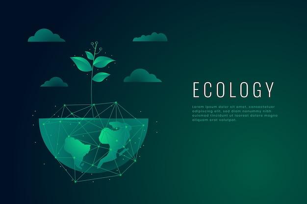 Carta da parati concetto di ecologia