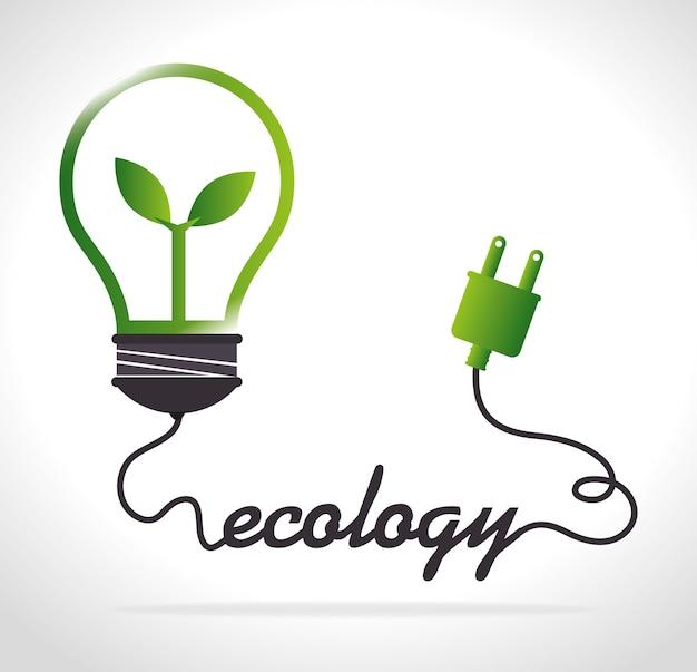 Progettazione di ecologia, illustrazione vettoriale.