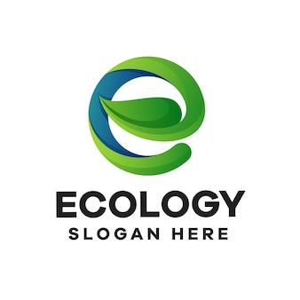 Design del logo con gradiente di ecologia