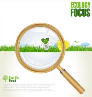 Modello di progettazione infografica ecologia
