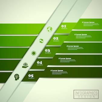 Progettazione del modello di infografica di ecologia con elemento statistico