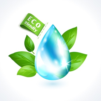 Ecologia simbolo goccia d'acqua