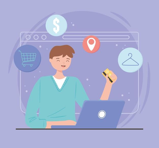 E-commerce shopping digitale