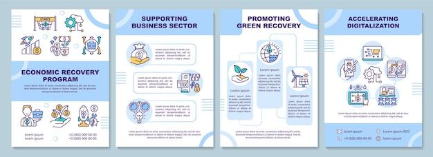 Modello di brochure del programma di ripresa economica