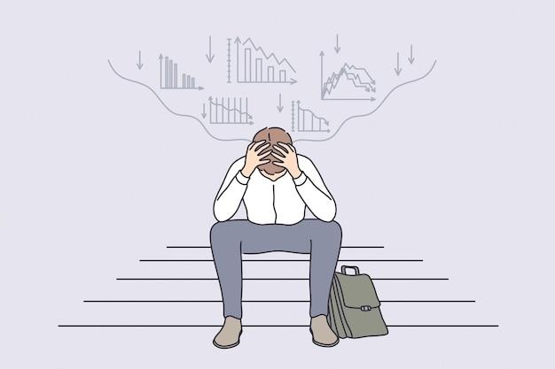 Fallimento di regressione economica nel concetto di business