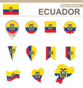 Collezione bandiera ecuador, 12 versioni