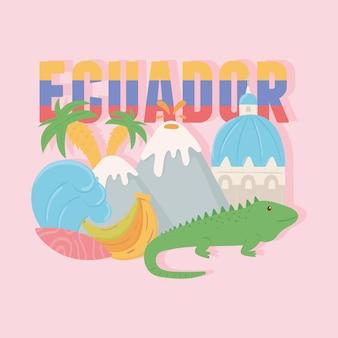 Attrazione turistica dell'ecuador