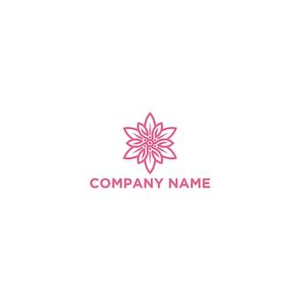 Modello di logo del fiore di edelweis