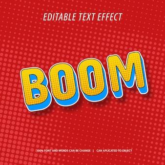 Modificabile mockup effetto testo in stile fumetto 3d