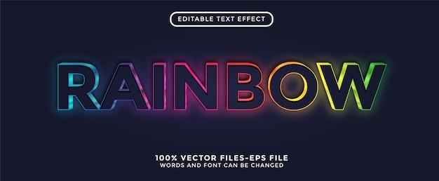 Effetto testo modificabile 3d color arcobaleno facile da cambiare o modificare vettore premium