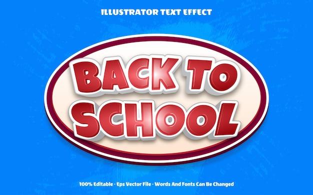 Effetto testo 3d modificabile torna a scuola