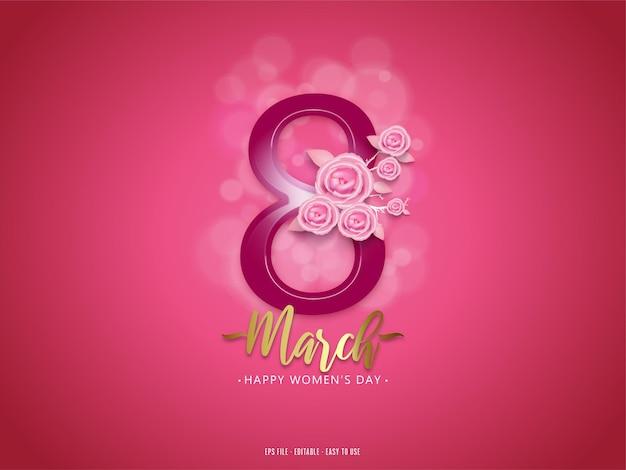 Modificabile 8 marzo felice festa della donna