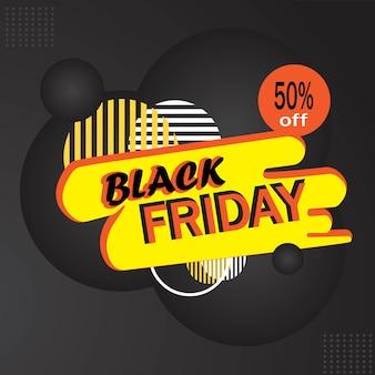 Promozione vendita sconto banner modificabile venerdì nero