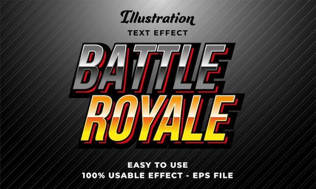 Effetto testo vettoriale modificabile battle royale con stile moderno