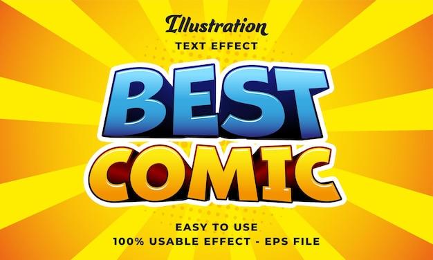 Modificabile miglior effetto di testo vettoriale comico con un design in stile moderno