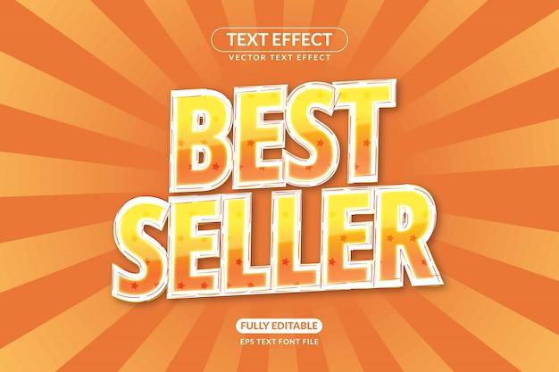 Effetti di testo modificabili per le stelle del best seller