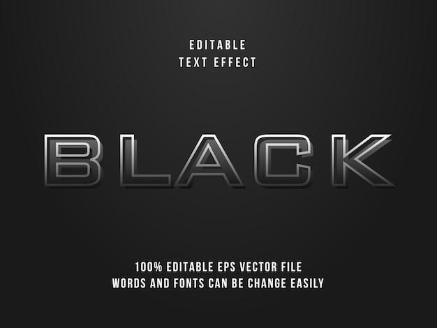 Effetto di testo nero modificabile