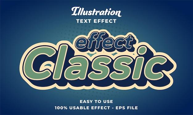 Effetto testo vettoriale modificabile classico effetto con stile moderno