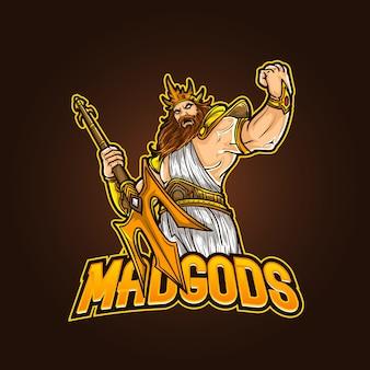 Illustrazione di contrazione degli esports di logo della mascotte sportiva modificabile e personalizzabile