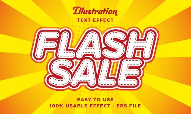 Effetto di testo vettoriale modificabile di vendita flash con stile moderno